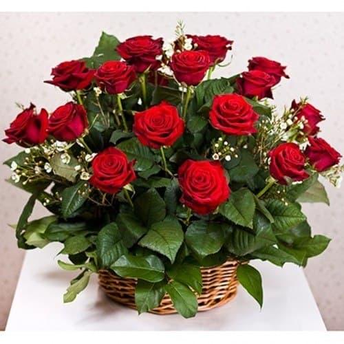 """Корзина с розами """"Эйфория"""""""