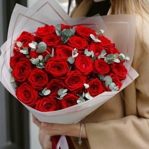 """Букет из красных роз """"Хейли"""""""