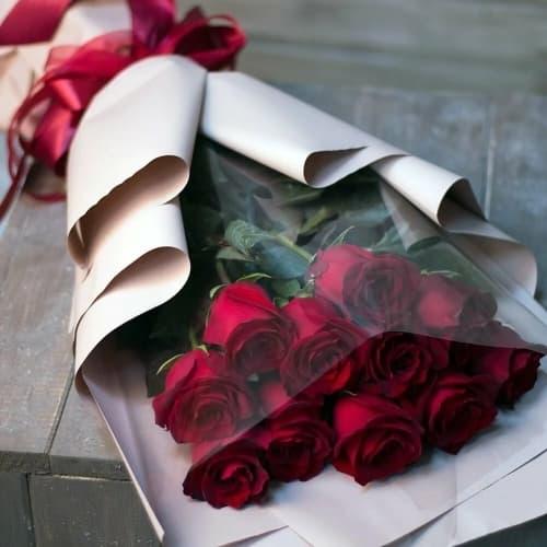 """Букет из красных роз """"Фабия"""""""