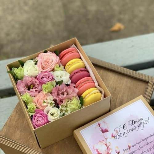 Цветы и сладости на День Учителя №2