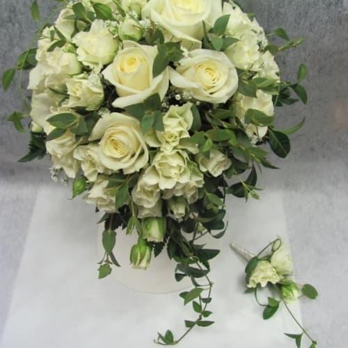 """Свадебный букет из роз """"Пенелопа"""""""