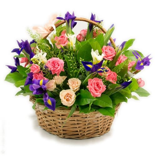 "Корзина с цветами ""Лагерта"""