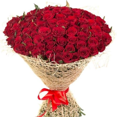 """Букет из 101 розы """"Аврора"""""""