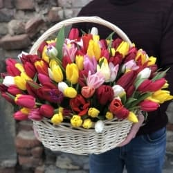 """Корзина с цветами """"Дженна"""""""