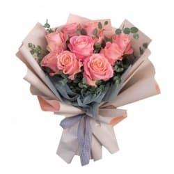 """Букет из розовых роз """"Мадлен"""""""