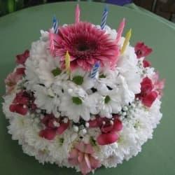 Цветочный тортик №2