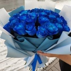 """Букет из синих роз """"Хилари"""""""