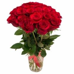 Букет из 25 красных роз «Карина»