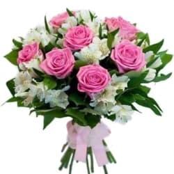 """Букет из роз и альстромерий  """"Николь"""""""