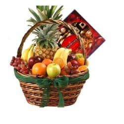 """Подарочная корзина с фруктами """"Сладкая радость"""""""