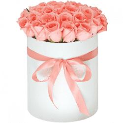 """Розы в шляпной коробке """"Страсть"""""""