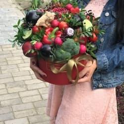 "Композиция из овощей и фруктов ""Краски лета"""
